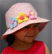 Fiebig Kids summer hat with 3 flowers