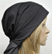Black scarf hat