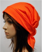 scarf hat small dots