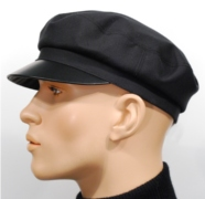 Leather cap Jaakko for summer