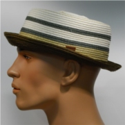 Kangol Stripe Braid Pork Pie putty-beige