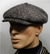 Stetson Tweed-Cap brown-grey